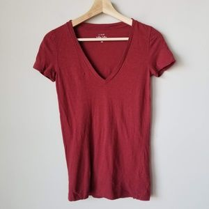J Crew Red Vintage Cotton Short Sleeve Tee XS